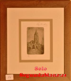 Catedral de Oviedo, grabado sobre tabla (84b)