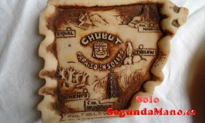 Cenicero mapa de la provincia de Chubut (Argentina) (47a)