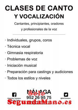 Clases de canto. Técnica vocal. Málaga. Curso