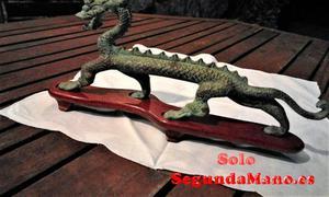 Dragon Chino en Bronce envejecido sobre peana (87a)