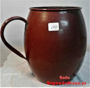 Jarro de leche grande antiguo de porcelana (a)