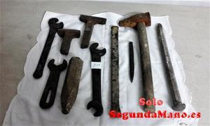 Juego de diez herramientas cortas antiguas de Herrero (255a