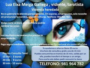 Lua Eixa Meiga Gallega, vidente, tarotista - A Coruña