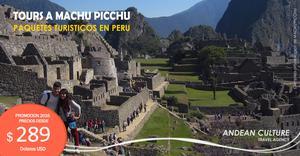 Paquetes de Tours a Machu Picchu - Ofertas de viajes a Peru