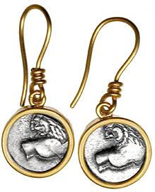Pendientes en oro con monedas antiguas - Barcelona