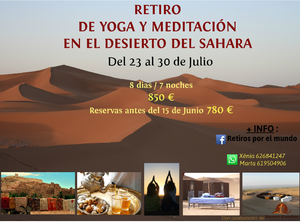 RETIRO DE YOGA Y MEDITACIÓN EN EL DESIERTO DEL SÁHARA DEL