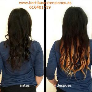 Servicio de venta y colocacion de extensiones pelo natural