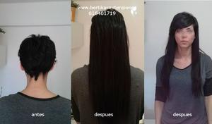 Servicios de venta y colocacion de extensiones pelo natural