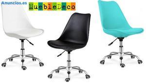 Silla TORRE-G, Giratoria, 3 Colores A Elegir.