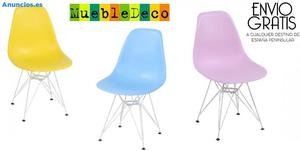 Silla TOWER,Blanca,Polipropileno, 3 Colores Disponibles