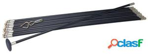 Silverline Juego de varillas de drenaje lock rod, 12 piezas