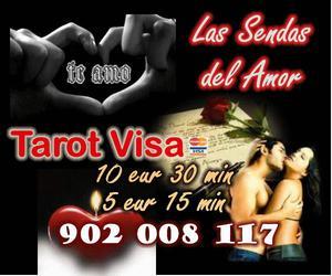 TAROT SENDAS DEL AMOR VISA 10 EUR 30 MIN  -