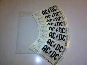 Vendo sobre(s) y regalo entradas para ACDC en Bilbao 28