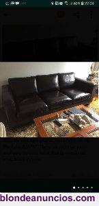 Vendo sofá de piel de tres plazas
