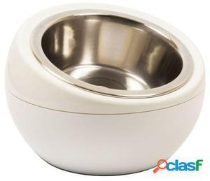 Hing Dome Simple Comedero para Perros y Gatos Blanco