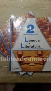 Libros de lengua y literatura de 2º de e.s.o.