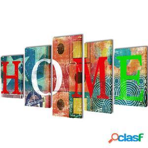Set decorativo de lienzos para pared colorido para casa 200