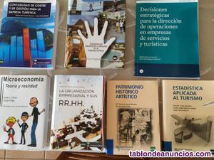 Vendo libros grado turismo uned