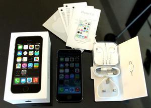 dos iPhone 5S 16GB libres de fabrica con caja y accesorios,