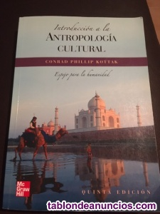 Libro: introducción a la antropología cultural