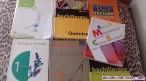 Libros de texto 1 y 2 bachillerato