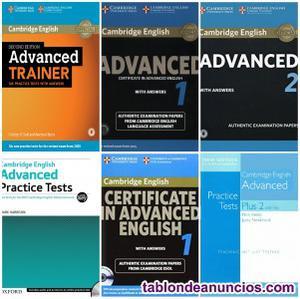Pack de libros con exámenes c1 inglés