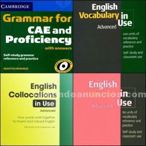 Pack de libros de gramática c1 inglés
