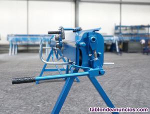 Plegadora manual, dobladora para chapa 2 metros, 1,2mm de