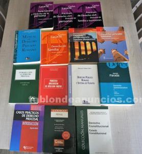 Varios libros de derecho uned