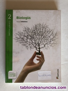 Vendo libro de texto de biología 2ºbachiller