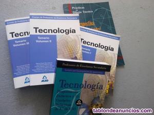 Vendo libros para oposiciones tecnología