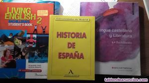 Venta de libros de texto 2º de bachillerato