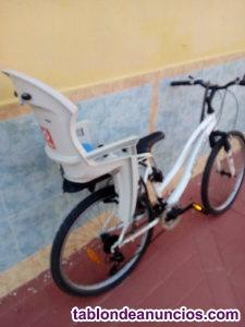 Bicicleta de paseo con portabebe