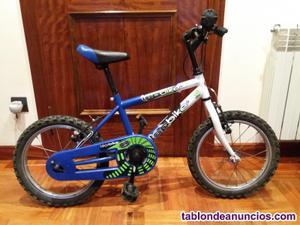 Bicicleta para niño/a de 16¨(pulgadas)+casco de regalo