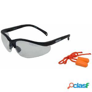 KS Tools Gafas de seguridad con tapones de oídos