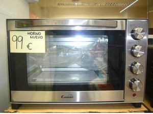 Mini horno nuevo color acero inoxidable