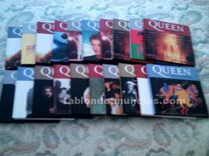 Vendo lote 4 libro + cd de queen (colección el mundo. Envio