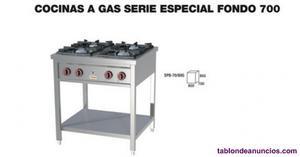 Cocina a gas de 4 fuegos