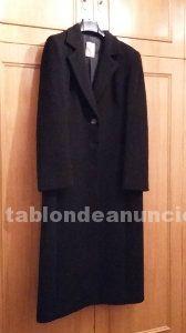 Oportunidad 2x1. Ahorra 50€. Abrigo negro pura lana