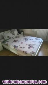 Vendo cama malm 140x200cm color blanco