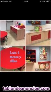 Venta de mobiliario completo centro de educación infantil