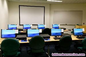 Alquiler de aulas informáticas por días y horas en