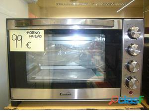 Mini horno nuevo color acero inoxidable 99€