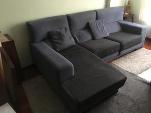 Se vende sofá cama con chaiselong