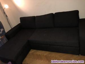 Vendo sofá cama con chaise longue y arcón