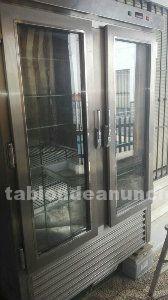 Vitrina frigorifica expositora de acero con 2 puertas