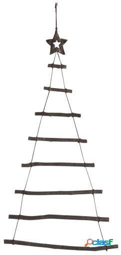 Wellindal Árbol de navidad rama y estrella madera