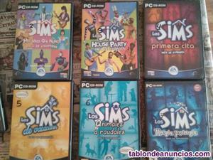 6 expansiones de los sims 1