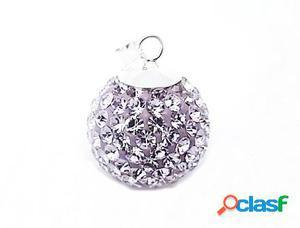 Llamador de angel de plata cristal violeta 18 mm.