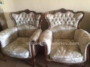 Sofa mas dos butacas luis xv
